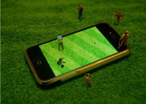 iPhone で ジオラマ