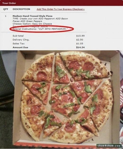 ピザ ペンタゴンカット