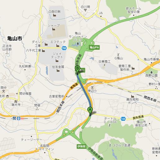 東名阪 亀山 渋滞