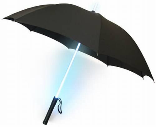 柄が光る傘