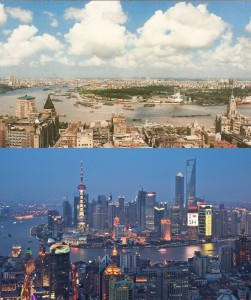 上海 1990 2010 比較
