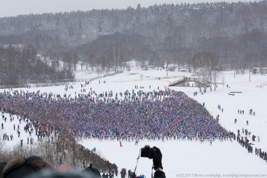 20,000人以上でスキー
