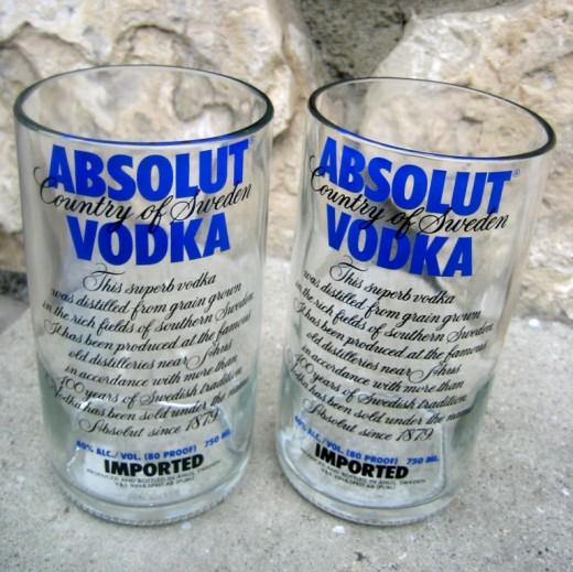 ビンからコップを作る