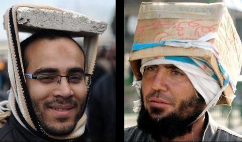 革命のヘルメット