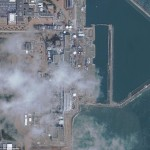 福島原発の燃料棒交換クレーンが見える写真他 (12)