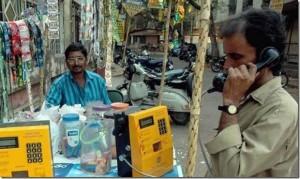 インドの移動式公衆電話
