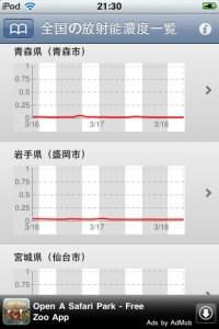 放射能 濃度 アプリ iPhone