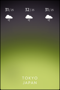 iPhoneのシンプルでクールな天気予報アプリ solar (2)