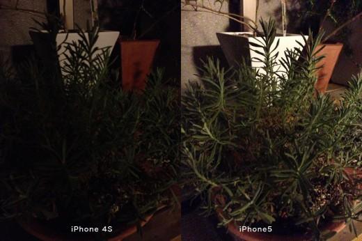 iPhone 5 / iPhone 4S カメラ画像 画質比較