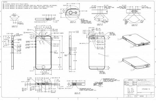 iPhone5 ケース制作者向けの図面