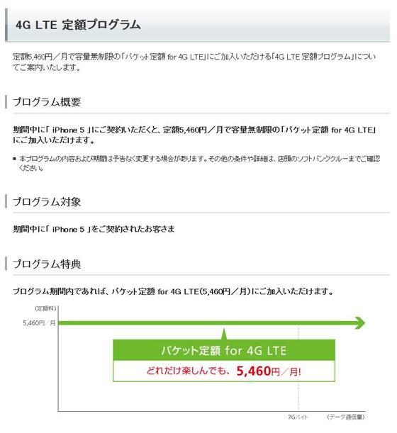 4G LTE 定額プログラム