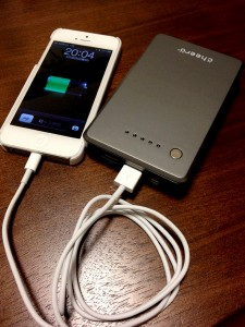 iPhone5 モバイルバッテリー cheero Power Plus