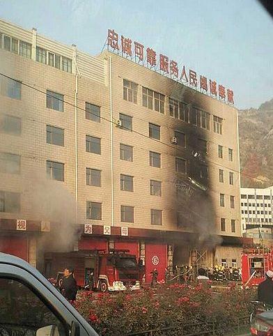 中国の消防署が火事で全焼