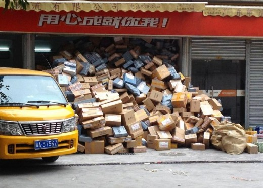 中国、セールで売れすぎて宅配業者がオーバーフロー (3)