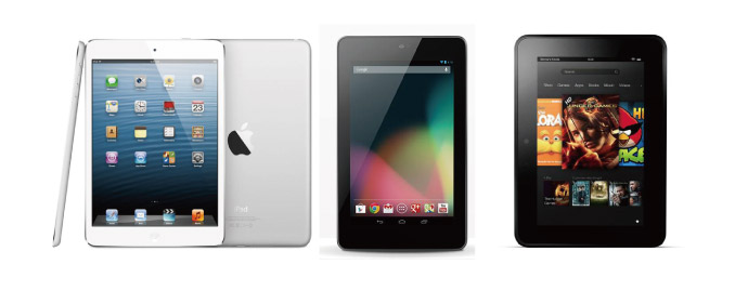 Nexus 7 iPad mini(Wi-Fi) Kindle Fire HD(7インチ) 比較