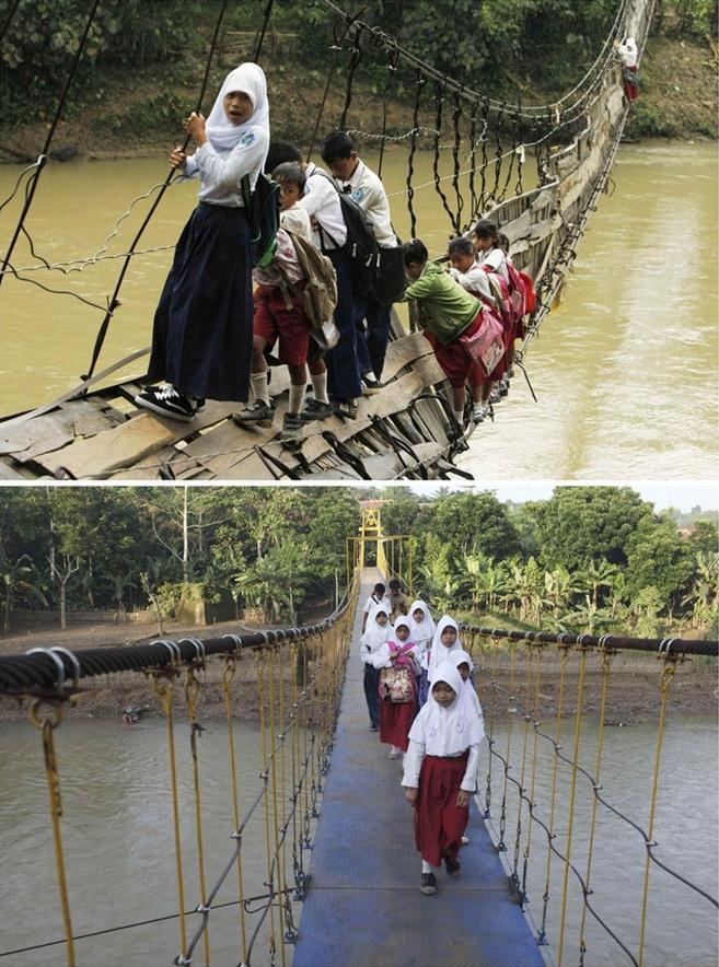 世界一危険な通学路がNGOの支援により安全に