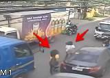 木が道路に倒れ2人の女性を直撃