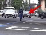 違反を見逃してもらえたタクシー運転手が両手を合わせ感謝