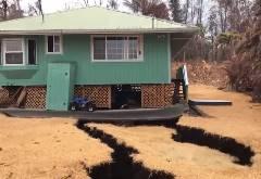 ハワイの住宅が火山による地割れで大変なことに