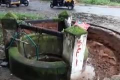 地震で井戸が消滅する瞬間  インド