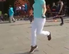 その辺を歩いていそうなおばさんが縄跳びの達人だった
