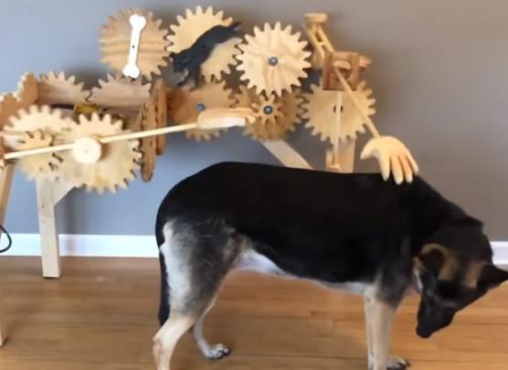 自動犬撫でマシーン